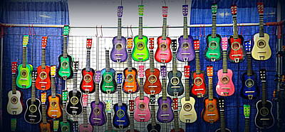 Poster featuring the photograph Ukuleles At The Fair by Lori Seaman