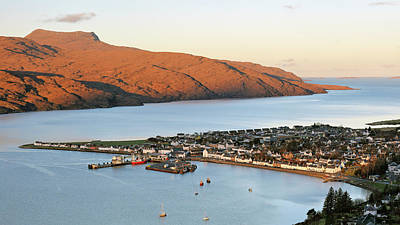 Poster featuring the photograph Ullapool Morning Light by Grant Glendinning