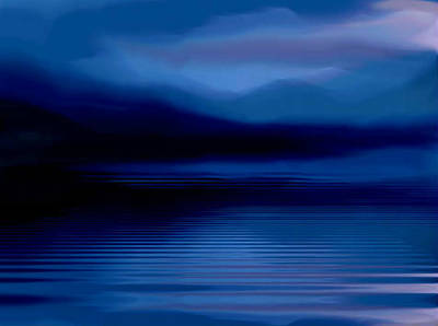 Poster featuring the painting Ullswater At Dusk by Susan  Solak
