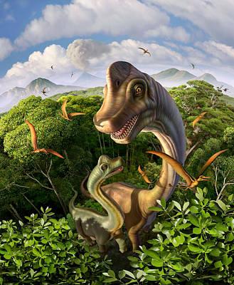 Ultrasaurus Poster by Jerry LoFaro