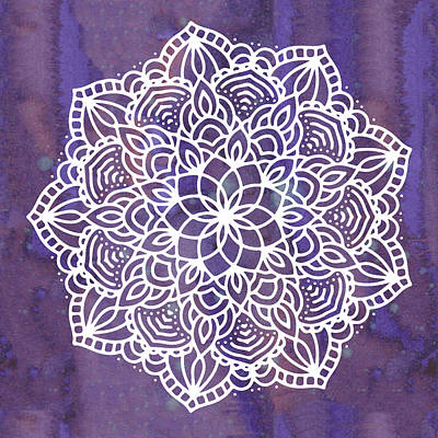 Poster featuring the digital art Ultraviolet Mandala by Bee-Bee Deigner