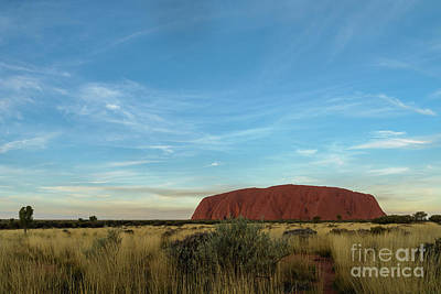 Poster featuring the photograph Uluru Sunset 02 by Werner Padarin