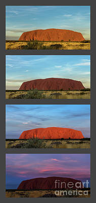 Poster featuring the photograph Uluru Sunset by Werner Padarin