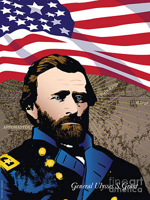 Ulysses S. Grant At Appomattox Poster by Joe Barsin