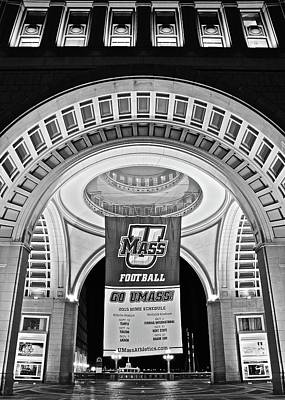 Umass Black And White Poster by Frozen in Time Fine Art Photography