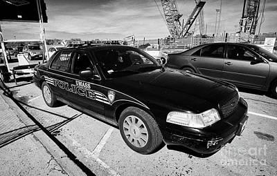 umass university campus police patrol vehicle Boston USA Poster