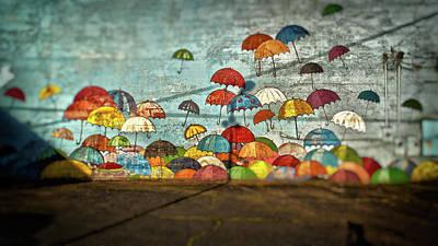 Umbrellas  Poster by Matthew Ahola
