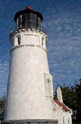 Poster featuring the photograph Umpqua Lighthouse by Carol Grimes