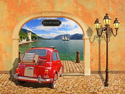 Un Piccolo Porto With Small Italians Poster by Monika Juengling