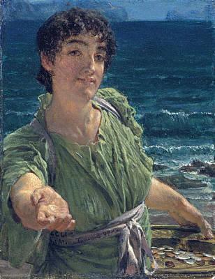 Una Carita Poster by Lawrence Alma-Tadema