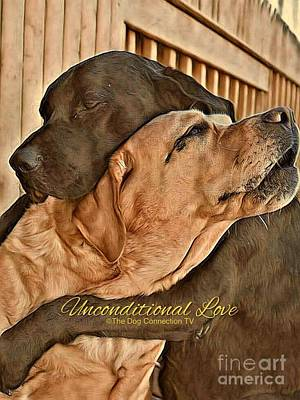 Poster featuring the digital art Unconditional Love by Kathy Tarochione