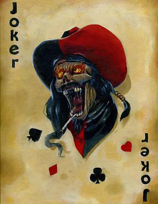 Undead Joker 4 Poster by Bryon Wackwitz