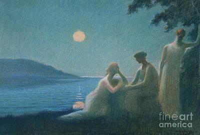 Under A Moonbeam Poster by Alphonse Osbert