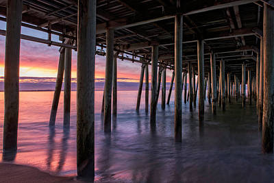 Poster featuring the photograph Under Old Orchard Pier by Expressive Landscapes Fine Art Photography by Thom