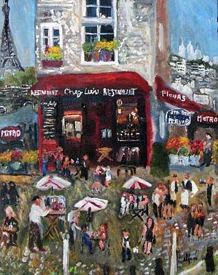 Under Paris Skies Poster by Michael Helfen