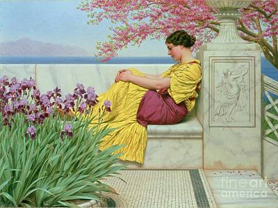 Under The Blossom That Hangs On The Bough Poster by John William Godward