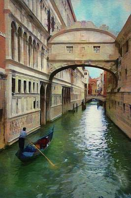 Under The Bridge Of Sighs Poster by Jeff Kolker