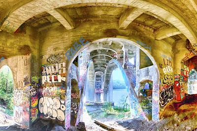Under The Ford Bridge Poster by Craig Voth