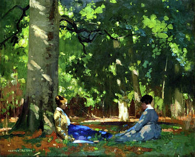 Under The Greenwood Tree Poster by George Henry