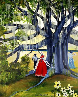 Under The Mossy Oak Poster by Diane Britton Dunham