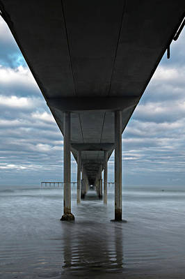 Under The Ocean Beach Pier San Diego Early Morning Poster