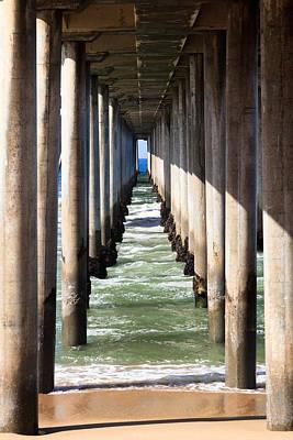 Under The Pier In Orange County California Poster