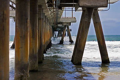 Poster featuring the photograph Under The Pier by Ron Dubin