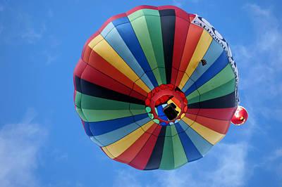 Under The Rainbow - Hot Air Balloon Poster by Nikolyn McDonald