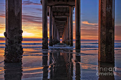 Under The Scripps Pier Poster by Sam Antonio Photography