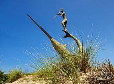 Under The Swordfish Harpooner Of Menemsha Poster by Mark Miller