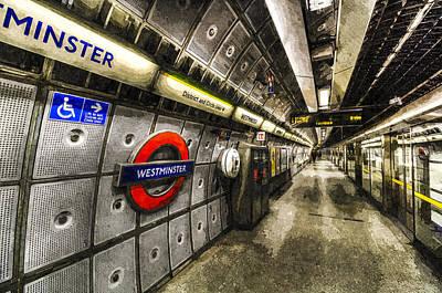 Underground London Art Poster by David Pyatt