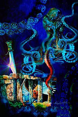 Undersea Fantasy Illustration Poster by Hanne Lore Koehler