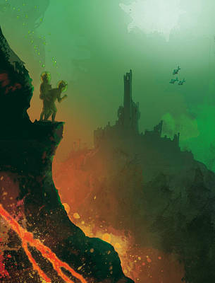 Undersea Volcano Poster by Andy Catling