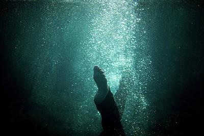 Underwater Foot Poster