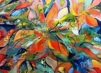 Underwater Ocean Floral Poster