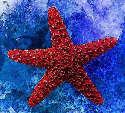 Underwater. Starfish Poster by Elena Kosvincheva