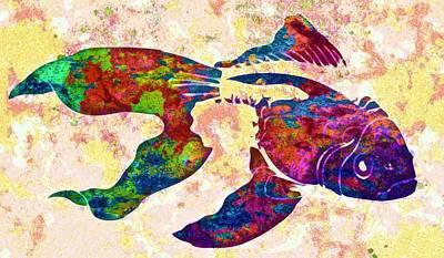 Underwater.fish. Poster by Elena Kosvincheva