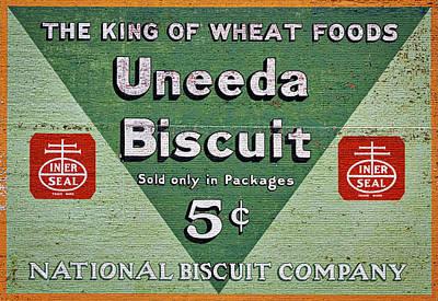 Uneeda Biscuit Vintage Sign Poster
