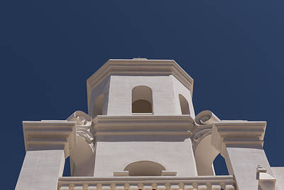Unfinished Bell Tower - Mission San Xavier Del Bac - Tucson Arizona Poster by Jon Berghoff