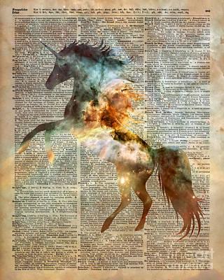 Unicorn Carina Nebula Poster by Jacob Kuch