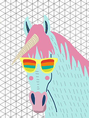 Unicorn Poster by Nicole Wilson