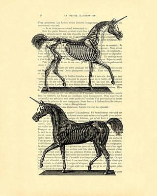 Unicorns Anatomy Poster by Madame Memento