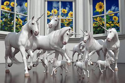 Unicorns Poster by Betsy Knapp