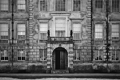 Unidentified Old English Mansion House With Balcony Overlooking  Poster