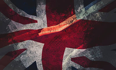 Union Jack Fine Art, Abstract Vision Of Great Britain Flag Poster