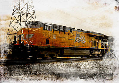 Union Pacific 7897 Engine Iv Poster by J M Lister