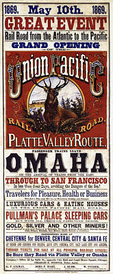 Union Pacific Railroad Opens The West - May 10, 1869 Poster