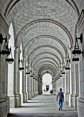 Poster featuring the photograph Union Station Exterior Archway by Suzanne Stout