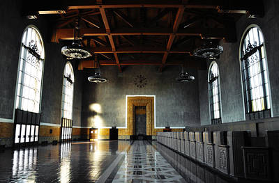 Poster featuring the photograph Union Station Los Angeles by Kyle Hanson