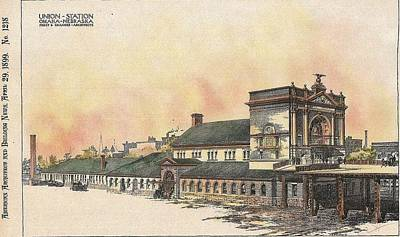 Union Station Omaha Nebraska 1899 Poster by Frost and Granger